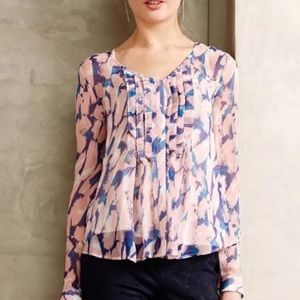 Maeve Painted Silk Blouse